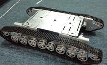 Doit T800 Aleación de Plata DIY Chasis Chasis Del Tanque Con 4 Motores Robbot Tamaño Grande