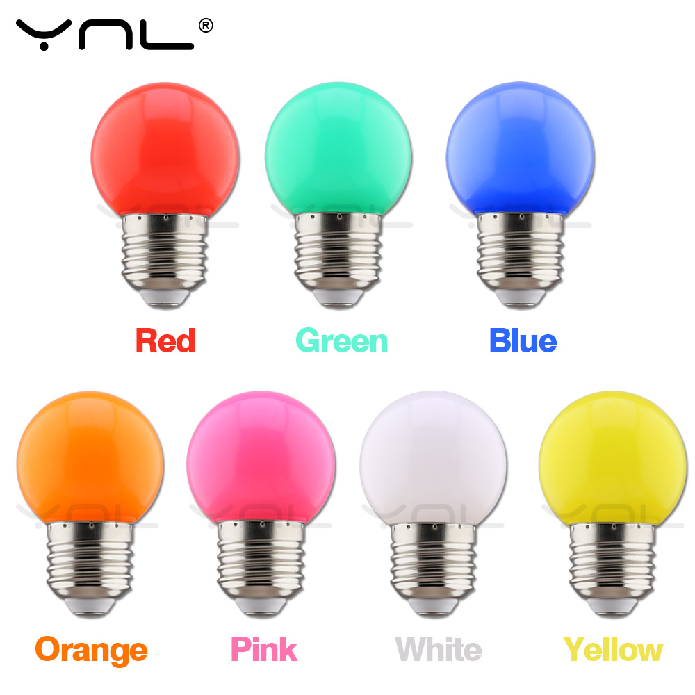 E27 Led Colorful Bulb 220V Holiday Decor Christmas Led Fairy Lights Indoor For Halloween New Year Wedding Decoration Color Lamp