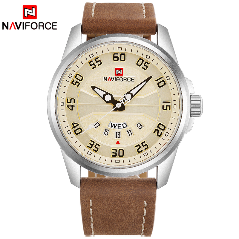 NEW Luxury Brand NAVIFORCE Men Fashion Sport Watches Men s Quartz Clock Man Leather Army Military NEW Luxury Brand NAVIFORCE Men Fashion Sport Watches Men's Quartz Clock Man Leather Army Military Wrist Watch relogio masculino
