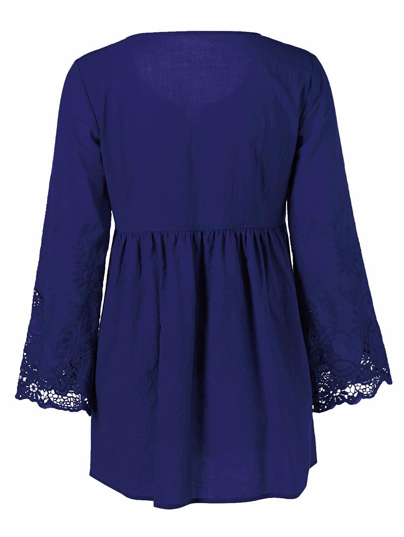 HTB1zIdaOpXXXXcuXXXXq6xXFXXXO - Gamiss Plus Size 5XL Female Blusa Retro Spring Autumn Lace Floral