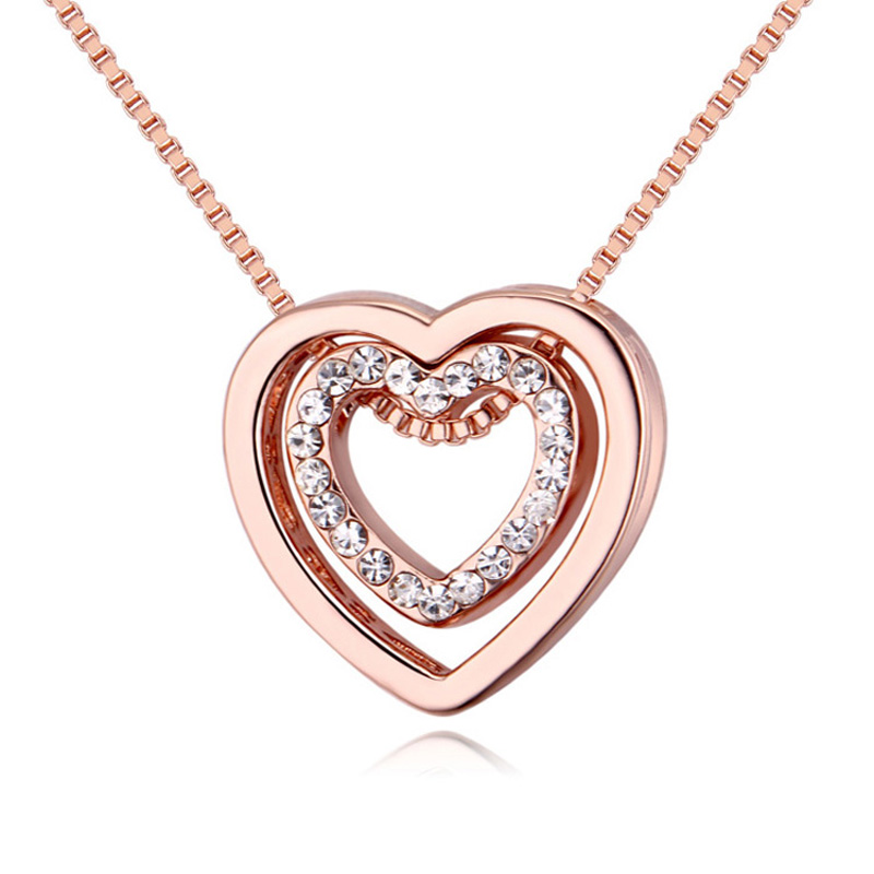 heart necklaces rose gold best Gifts your love