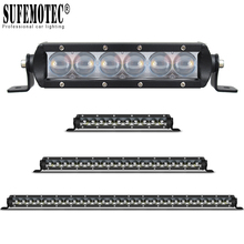 Single Row 4D Lens Led 4x4 Offroad Light Bar Super Slim For Car Off-road 4WD Truck ATV Sand Rails Wat Curved Driving Spot Lights цена