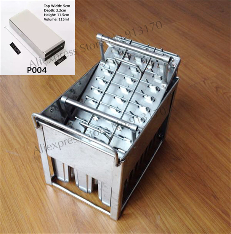 Stainless Steel Popsicle Mold Ice Lolly Mould Tray 30pcs/Batch with Stick Holder for Freezer Use