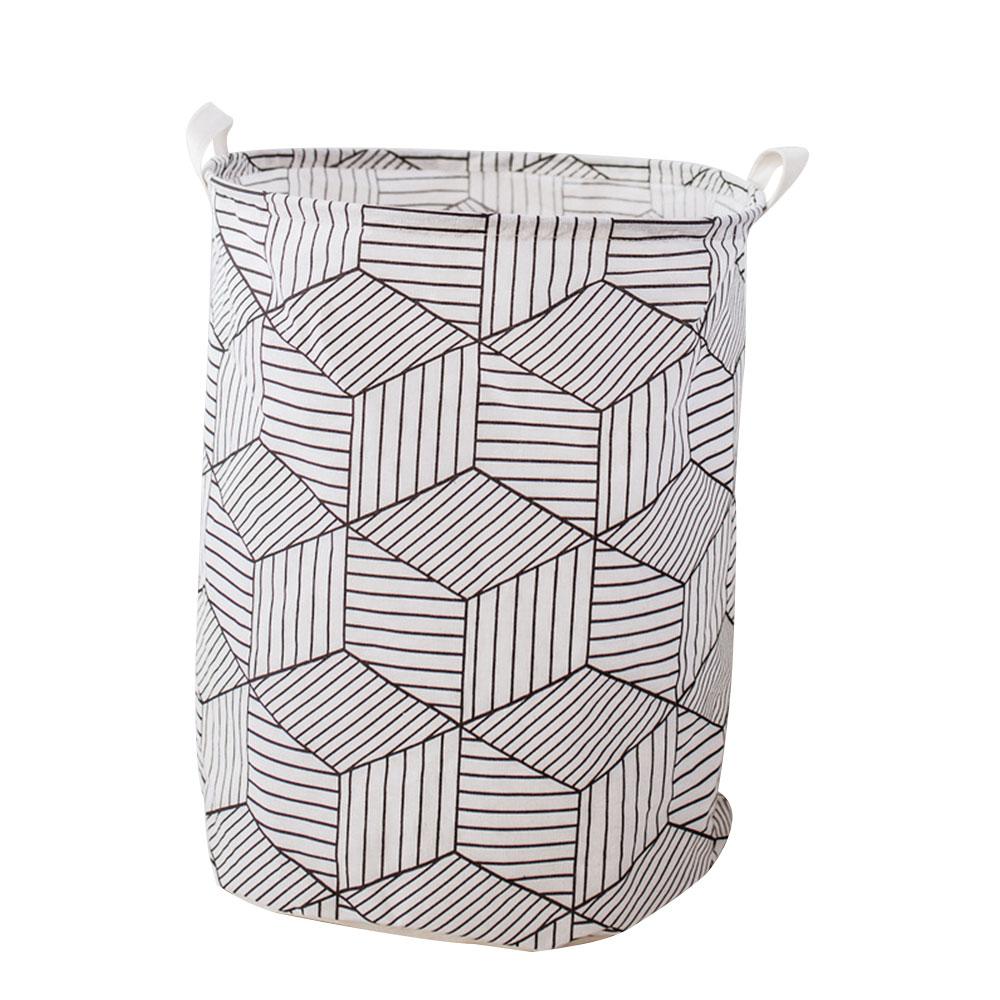 Корзина для грязного белья, корзина для одежды, корзина для уборки белья из хлопка 40*50 см, удобная корзина для хранения, практичная - Цвет: 2