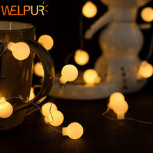 Led Globe string light battery USB fairy tale ball 50Led waterproof bedroom outdoor garden holiday  wedding party Christmas