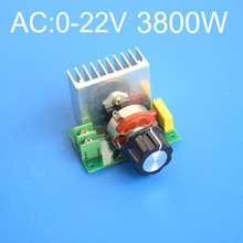 3800W AC 0-220V SCR high-power electronic voltage regulator dimmer governor thermostat Free shipping
