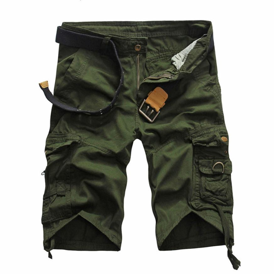 Summer Men's Army Cargo Work Casual Bermuda Shorts Men Classic Fashion Overall Trousers Plus size Masculina Beach Short Plus