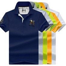 Men Turn-down Collar T-Shirts Men's 2019 Summer Fashion Short Sleeve T-Shirt Male Casual Plus Size 4XL Tops & Tees 8026 василий степанов полюса