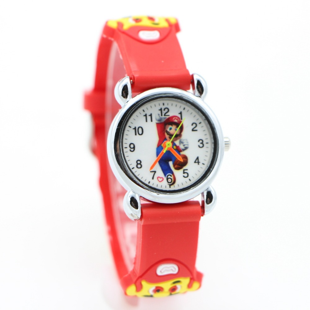 New Arrival 3D Cartoon Super Mario Doll Kids Watch Children Kids Girls Boys Students Quartz Wristwatches Supermario Watches