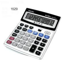 Калькулятор 1529 Многофункциональный финансовые офис солнечный калькулятор большой Экран цифр дисплей 12 ЖК-дисплей Экран материал