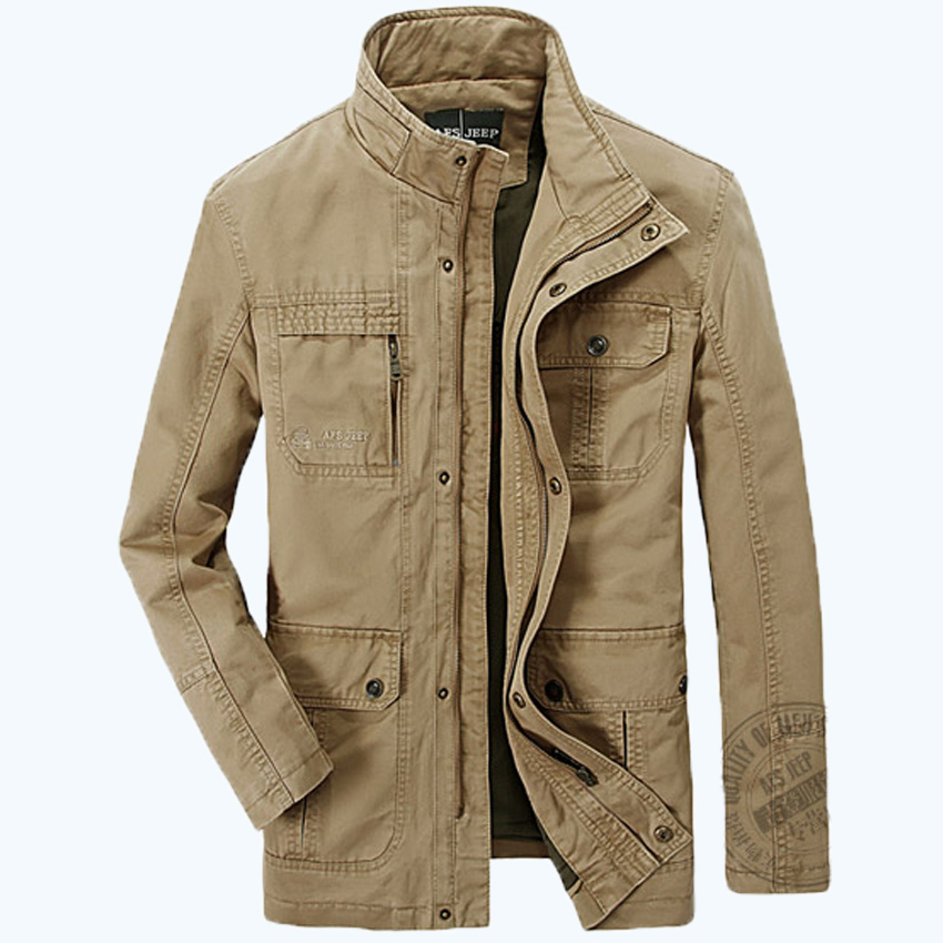 AFS JEEP brand Mens good quality Spring Autumn jackets Men's cotton military army soldier Washing cotton jacket clothes men 160