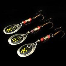 Rotating Fishing Lure Metal Bait Hooks 3 pcs Set