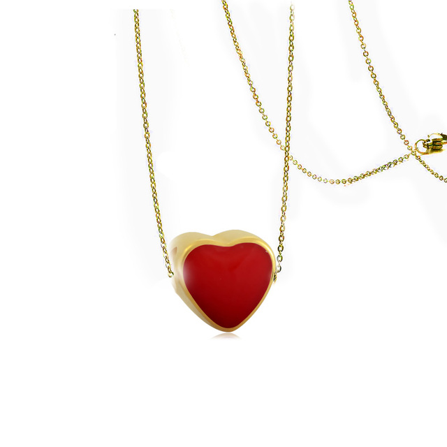 online necklace rose heart necklaces floating tiny gold jl in