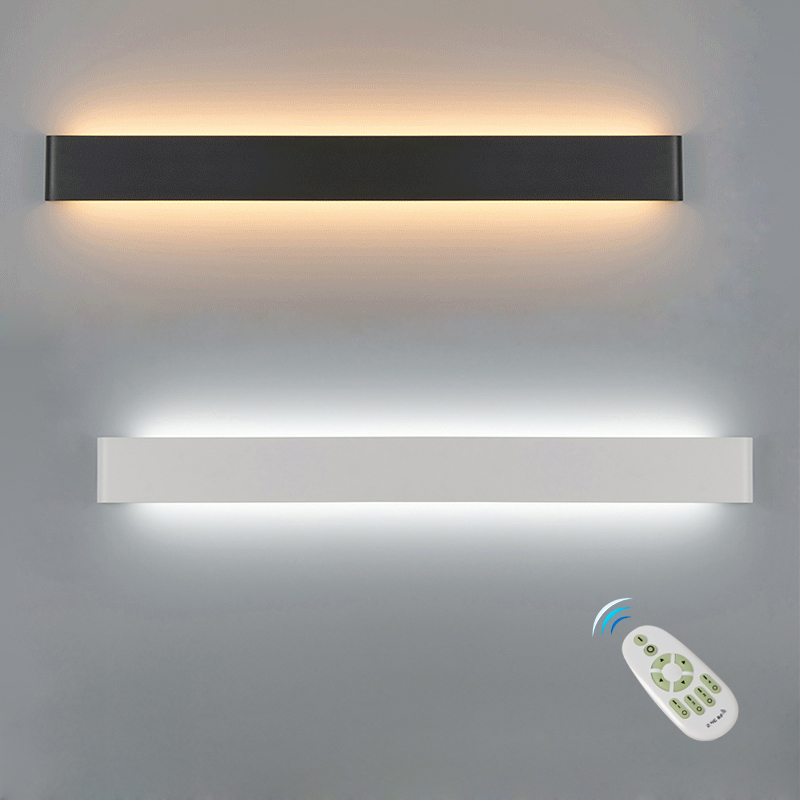 LED Wall Lamp Dimmable 2.4G RF Remote Control Modern Bedroom Beside Wall Light Living Room Stairway Lighting Decoration Fixtures