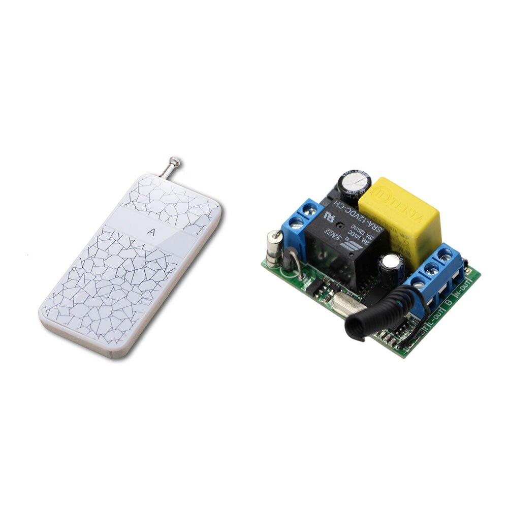 Nueva Llegada Inteligente Hogar de la CA 220 V 10A 1CH Inalámbrico Interruptor d