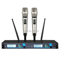 New MICWL skm-9000 KTV Stage Performance Wireless 2 Handheld Vocal Microphone System