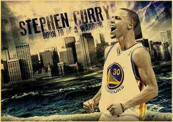 MVP basketball player Stephen Curry Art Poster kraft paper Painting Print Home Decor For Wall 1