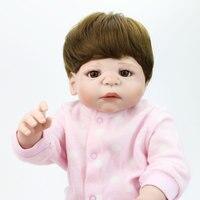 22 дюймов 55 см полный Силиконовый Reborn Baby куклы ручной работы очаровательны малыш настоящая кукла Bebe Реалистичная Menina Дети Девочка Ванна деву