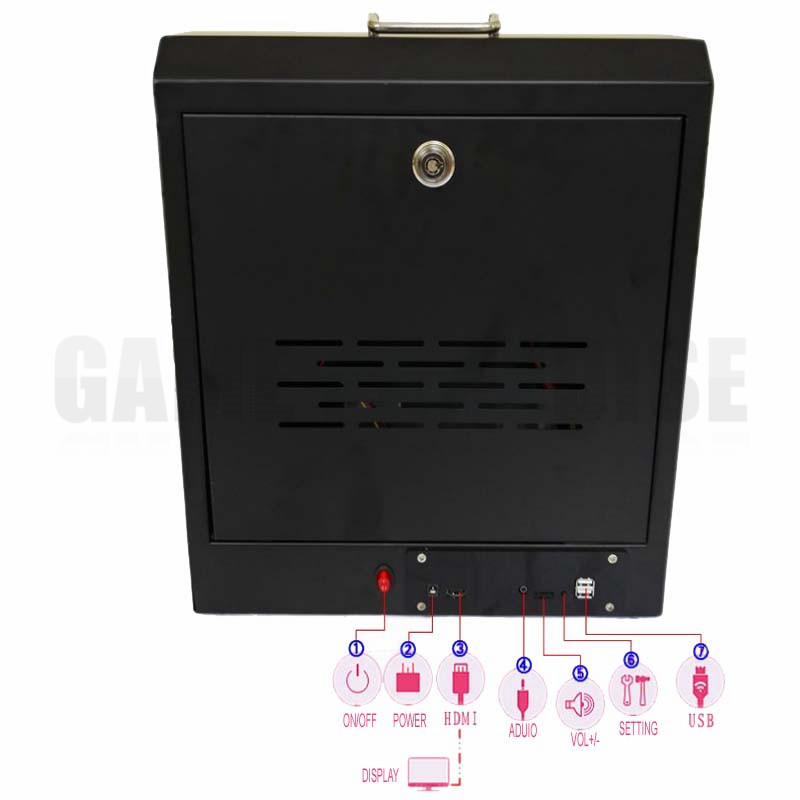 metal Case Family Mini Arcade game console 1 player Arcade Game Machine with 15 inch LCD 960/1388 in 1 games board 11