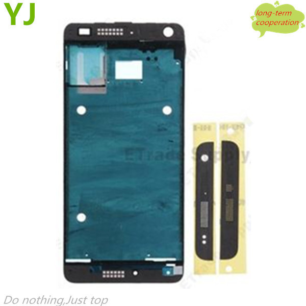 Free shipping Black Front Housing Frame Bezel Plate for HTC One Mini M4 (OEM)