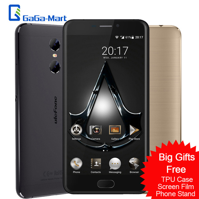 "New Dual Back Cameras uleFone Gemini Mobile Phone Android 6.0 MTK6737T Quad Core 3GB+32GB Fingerprint 5.5"" Inch 4G Smartphone"