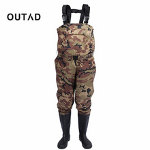 New Camouflage Thicker Waterproof Fishing Boots Pants Breathable Chest Wading Farming Overalls for Outdoor Fishing Waders 8 size