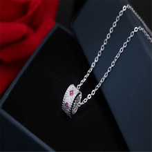 925 sterling silver Pendant necklace Transport bead Set auger Womens fashion jewelry wholesale