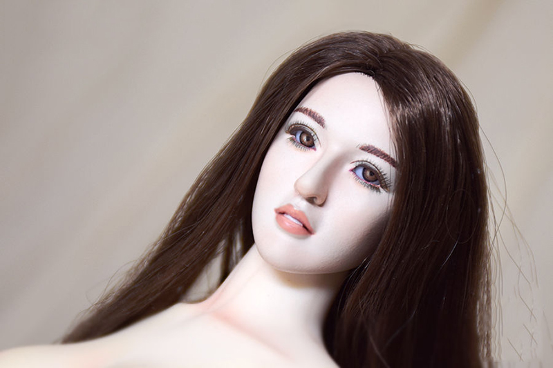 Wonder Lover Series 001. Luna v2.0 1/6 Scale Female Head Sculpt W Movable Eyes for Female pale Colo Action Figure Doll