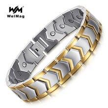 Welmag магнитные энергетические браслеты модные из нержавеющей