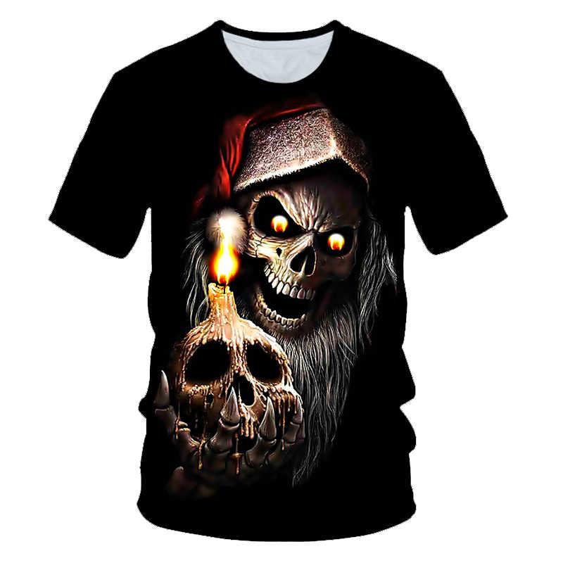 Новая популярная мужская летняя футболка в покер с черепами с принтом, футболка с короткими рукавами, 3D футболка, Повседневная дышащая, сезон хип-хоп, брендовая футболка 6XL