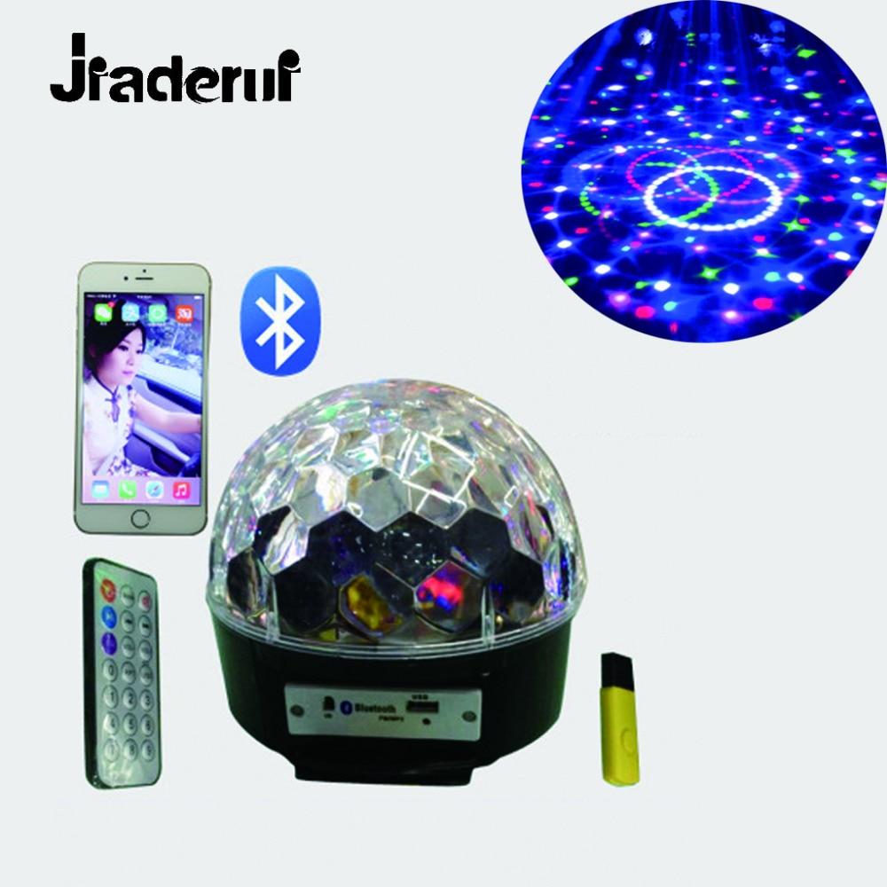 Jiaderui LED Sound Control Stage Lamp Bluetooth Speaker DJ Stage Light EU Plug Wedding KTV Magic Crystal Ball U Disk Broadcast dj control