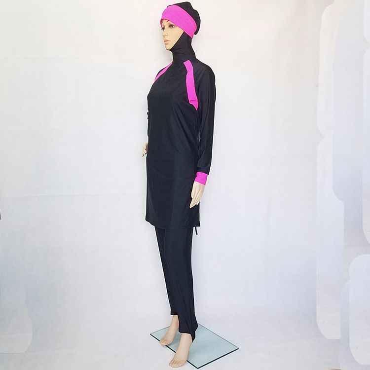 c1bf71d5d Women Muslim Swimwear Arab Islamic Wear 2 Pieces Muslim Swimsuit Hooded  High Quality Muslim Bathing Suit muslimsk badedrakt