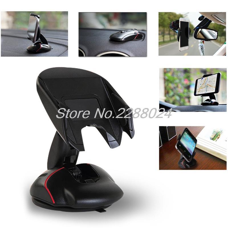 Methodical Car-styling Office Desk Phone Holder Universal 360 Windshield Mount Bracket For Iphone 5 5s Se 6 6s 7 7s Plus For Samsung Huawei Elegant Shape