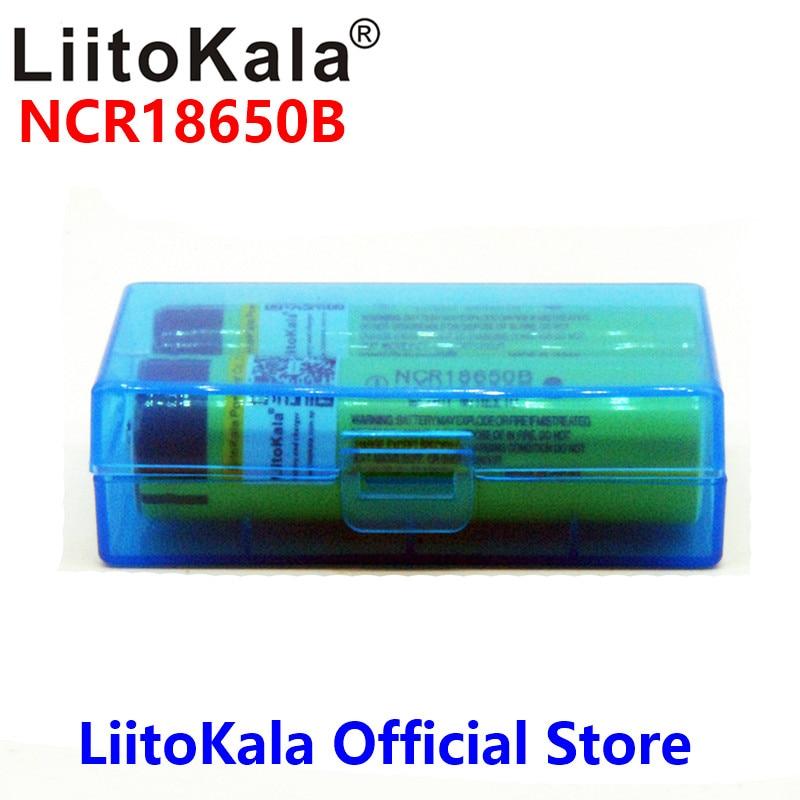 LiitoKala 100% NCR18650B 3.7 V 3400 mah 18650 3400 mah Lithium Rechargeable Batterie pour lampe de poche à powr banque