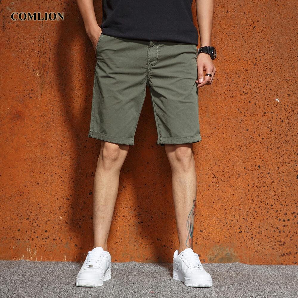 Comlion 2018 Casual Shorts Männer Heißer Baumwolle Solide Shorts Männer Knie-länge Sommer Cargo-shorts Homme Hose Hohe Qualität F19 GroßEr Ausverkauf Casual Shorts