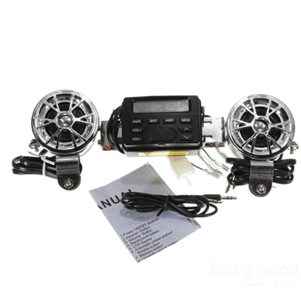 Motorcycle audio host|Motorcycle MP3 player host|Support external waterproof MT-723 motorcycle FM radio