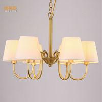 Amerikaanse LED kroonluchter licht Kung koper 8 arms E14 3 W 110/220 V ingang voor woonkamer eetkamer kamer slaapkamer woondecoratie