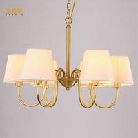Mỹ ánh sáng đèn chùm DẪN Kung đồng 8 arms E14 3 Wát 110/220 V đầu vào cho phòng khách phòng ăn phòng home phòng ngủ trang trí