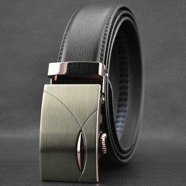 Простой мода новый мужской Кожаные ремни пряжки ремня автоматически ремень для мужчин