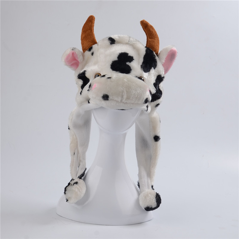 Pudelmützen Und Beanies Schafe Hund Kaninchen Frosch Kuh Affe Maus Plüsch Hut Cartoon Tier Kappen
