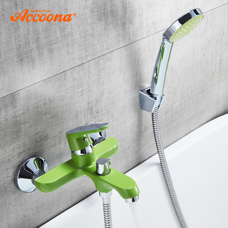 Accoona Shower Set Bathroom Thermostatic Valve Bathtub Faucet Chrome Plated Brass Bath Faucet Waterfall Bathroom Faucet A6366