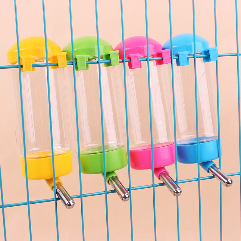 Plastic Hamster Water Bottle Dispenser Feeder For Guinea Pig Cavy Rabbit Hanging Drinking Head Watering Pet Supplies