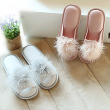 f184c034e71add Summer Spring Fashion Women Slippers Home Indoor Plush Slippers Female Shoes  Comfortable Fur Ladies Slides( · 2 Colors Available