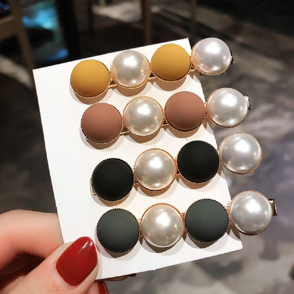 1PC Rhinestones Beads Hairgrip Hairpins Hair Accessories Ornaments Barrette Hair Claw Hair Clip For Women Girl Candy Scrub Bead