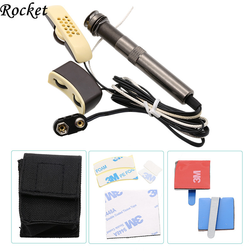 ФОТО ROCKET- High Quality Can Adjust the Volume and Sound Professional Folk Acoustic Guitar Pickup Microphone Pickup -Free Shipping
