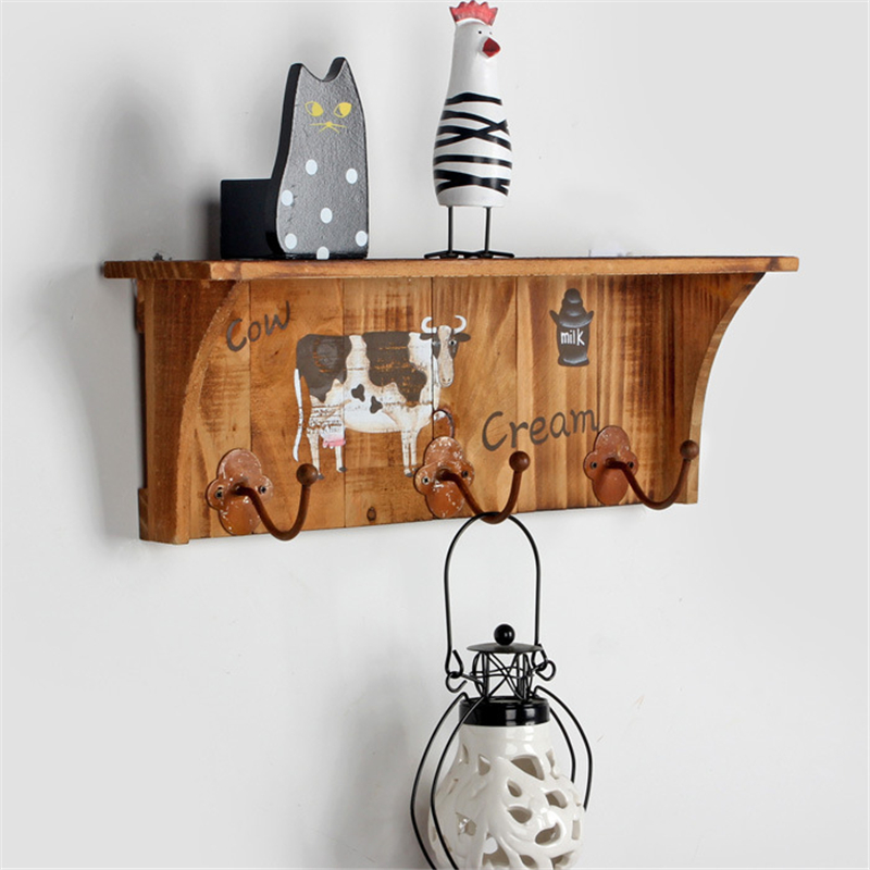 zakka home decor wooden furniture cabinet wood wall shelves home decor wooden furniture Wooden Wall Hanging Shelf Goods Convenient Rack Storage Holder Home Retro  Style Decoration Wood Wall Shelf Racks
