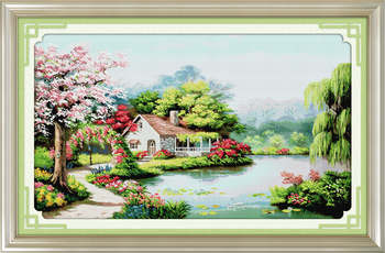 Love plantation Home Decor Cross Stitch Kits Printed Canvas DMC Counted  printed Cross-stitch set Embroidery Needlework Kit DIY