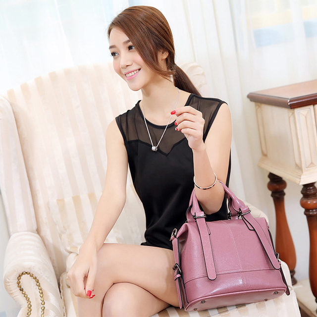 Nuleez genuine leather women tote bag vintage large capacity versatile bag popular star style 2020