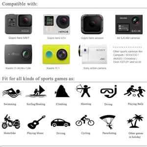 Image 5 - Husiway kit de accesorios para Gopro Hero 8, 7, 6, 5, Black Hero 4, 3 Session, DJI Osmo Action Set, montaje para SOOCOO / Akaso / xiaomi13N
