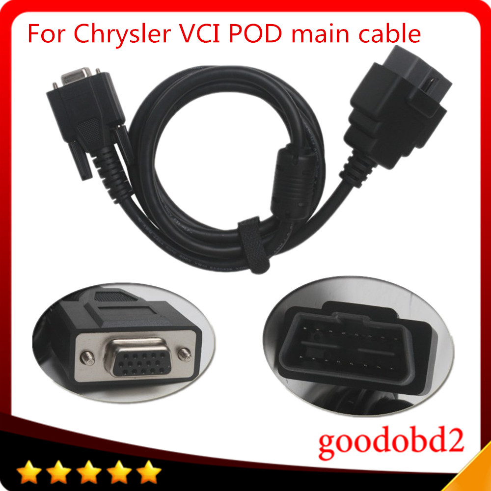 For Witech VCI POD Diagnostics Tools OBD2 16PIN Cable Professional Diagnostic Scanner OBDII 16 pin main tester cable for benz mb star c3 obd2 16pin cable obd ii 16 pin connect mian test cable car diagnostic scanner tool mb c3 obdii 16 pin cable